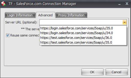 Connecting to a Salesforce Sandbox