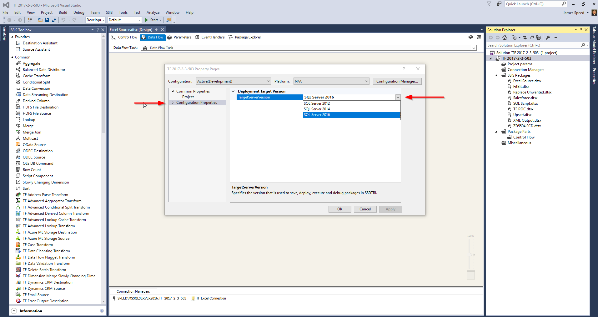 Task Factory Items Not Showing up in the SSIS Toolbox