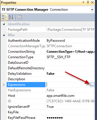 Task Factory – SFTP Using a Connection String